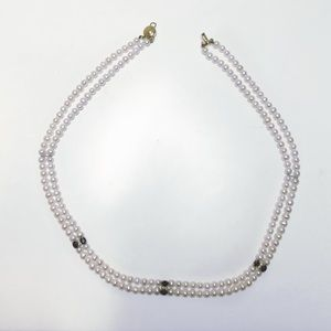 QVC Jewelry - QVC pearl, sapphire, diamond and 14k gold